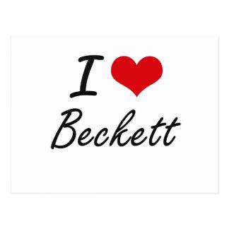 I Love Beckett Postcard