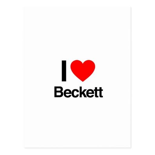 i love beckett post cards