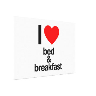 i love bed and breakfast canvas print