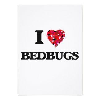 I Love Bedbugs 13 Cm X 18 Cm Invitation Card