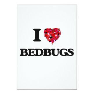I Love Bedbugs 9 Cm X 13 Cm Invitation Card