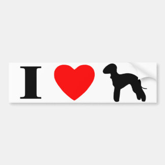 I Love Bedlington Terriers Bumper Sticker Car Bumper Sticker