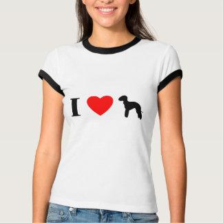 I Love Bedlington Terriers Ladies Ringer TShirt
