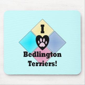 I Love Bedlington Terriers Mousepad