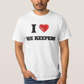 I love Bee Keepers (Heart made from words) Shirt