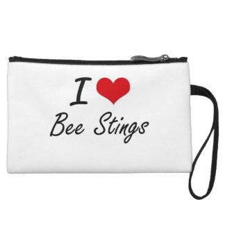 I love Bee Stings Artistic Design Wristlet Purse