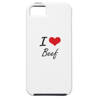 I Love Beef Artistic Design iPhone 5 Covers