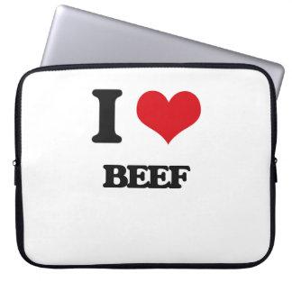 I Love Beef Laptop Sleeves
