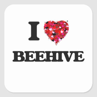 I Love Beehive Square Sticker