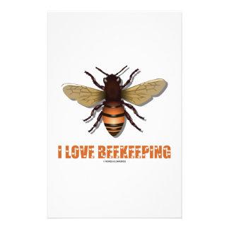 I Love Beekeeping (Bee) Stationery