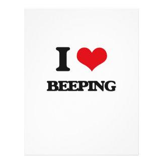 I Love Beeping Flyer Design