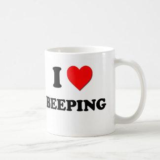 I Love Beeping Coffee Mug