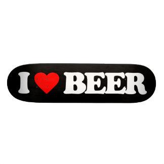 I LOVE BEER 20.6 CM SKATEBOARD DECK