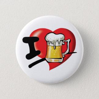 I Love Beer 6 Cm Round Badge