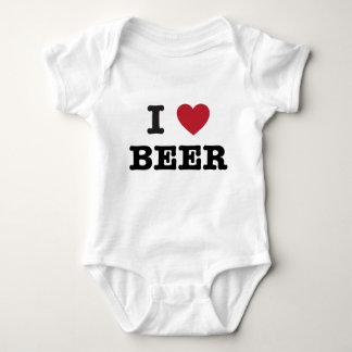 i love Beer Baby Bodysuit
