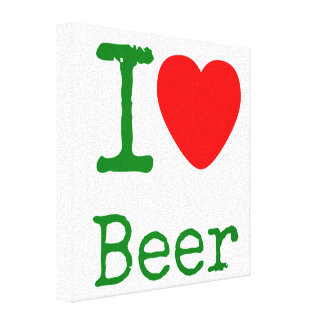 I Love Beer Canvas Print