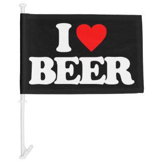 I LOVE BEER CAR FLAG