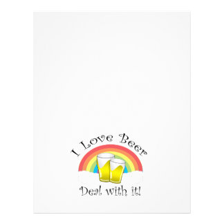 I love beer deal with it 21.5 cm x 28 cm flyer