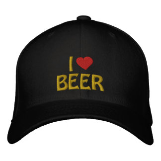 I Love Beer Embroiderd Cap Embroidered Hat