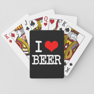 I Love Beer funny playing cards
