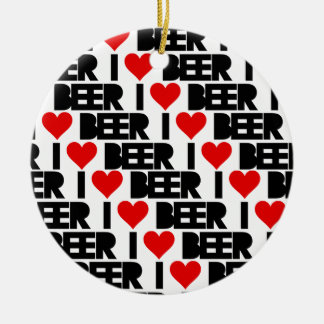 I love Beer - Have a Beery Xmas Christmas Ornament