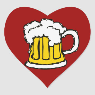 I love Beer! Heart Sticker