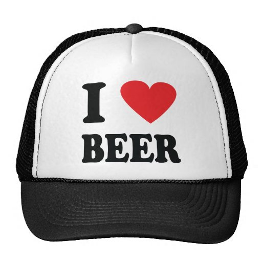 I love beer icon hat