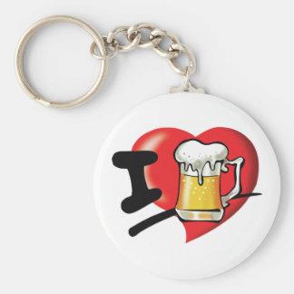 I Love Beer Key Ring