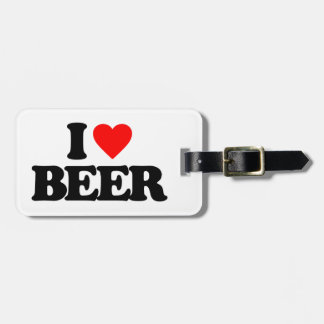 I LOVE BEER LUGGAGE TAG