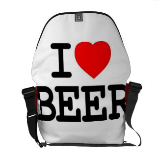 i love beer messenger bag