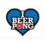 I Love Beer Pong - Blue Postcard