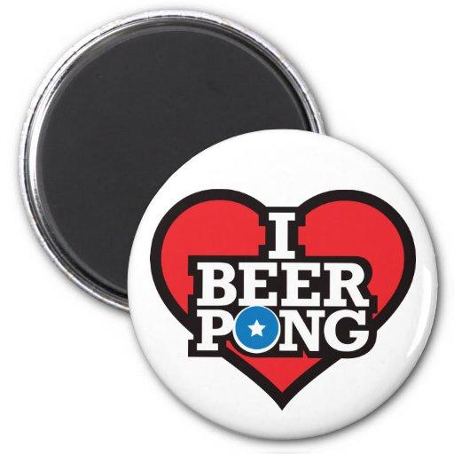 I Love Beer Pong - Red Magnet