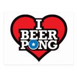I Love Beer Pong - Red Postcard