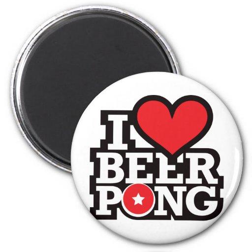 I Love Beer Pong v2 - Red Magnet