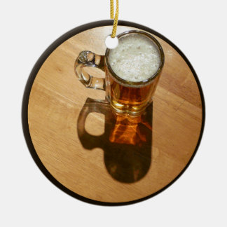 I love Beer Round Ceramic Decoration