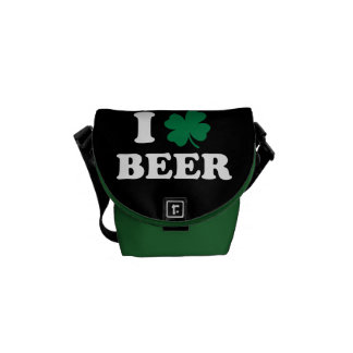 I Love Beer - Shamrock St Patrick's Day Courier Bag