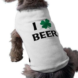 I Love Beer Sleeveless Dog Shirt