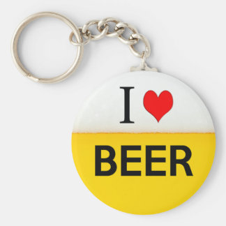 i love beer texture beverage alcohol drink heart key chains