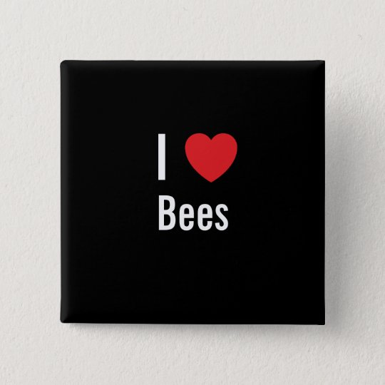 I love Bees 15 Cm Square Badge