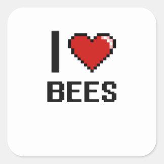 I love Bees Digital Design Square Sticker