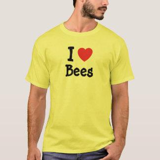 I love Bees heart custom T-Shirt