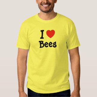 I love Bees heart custom Tee Shirt