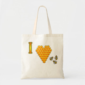 I Love Bees Tote Budget Tote Bag