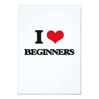 I Love Beginners Personalized Announcement Card