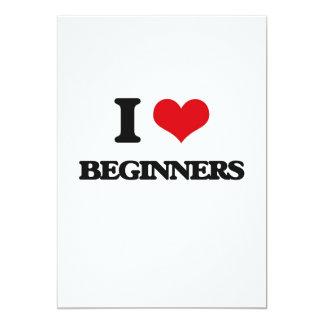 "I Love Beginners 5"" X 7"" Invitation Card"