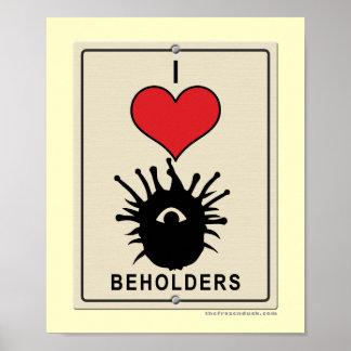I Love Beholders Poster