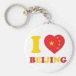 I Love Beijing Basic Round Button Key Ring