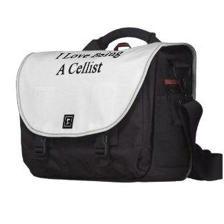 I Love Being A Cellist Laptop Messenger Bag