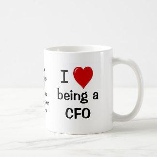 I Love Being a CFO Basic White Mug