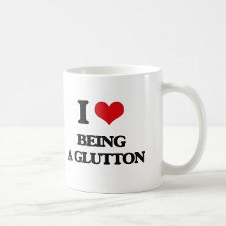 I Love Being A Glutton Basic White Mug